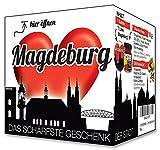 I Love Magdeburg - Das schärfste Geschenk der Stadt! Ein kleines Souvenir in der praktischen Box.