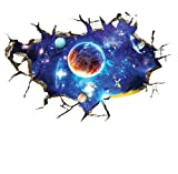 Nunubee Abnehmbare Wandaufkleber Schöne Landschaft DIY Wandsticker Selbstklebende Wandtattoo Kunst Aufkleber Wasserdichte Tapete Demontierbare Wandbilder Wanddekoration für Hause,Weltraum 3