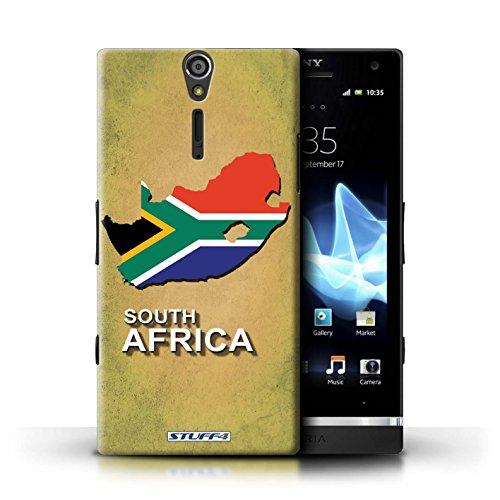 Kobalt® Imprimé Etui / Coque pour Sony Xperia S/LT26i / grande-Bretagne conception / Série Drapeau Pays Afrique du Sud/Afrique