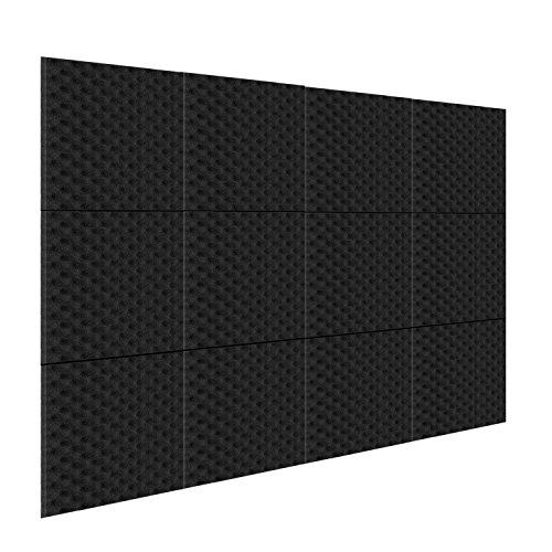 """Neewer 12 Pack Akustikplatten Studio Schaum Schallabsorption, schallgedämmter Schaum, 1"""" X 12"""" X 12"""" Eierkarton Fliesen für Zuhause und Studio Tonschaumkeil"""