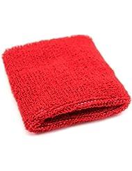 Unisexe Tennis Gym bracelet en peluche bracelet de sport Red