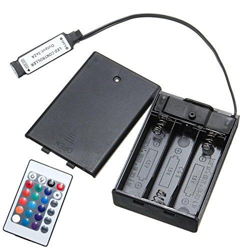 Bazaar DC4.5V Mini RF Controller Batterie Box mit 24 Tasten Fernbedienung für RGB LED Streifen