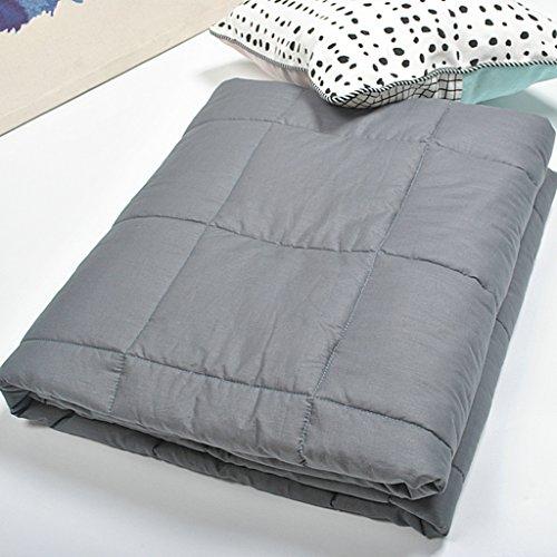 C&L Gravity Blanket, gewichtete Decke gewichteten Quilt entlasten Schlaflosigkeit entlasten Fatigue entlasten Angst gewichteten Decke für Erwachsene 5.4-9kg ( Farbe : Dunkelgrau , größe : 150*200cm(7kg) )