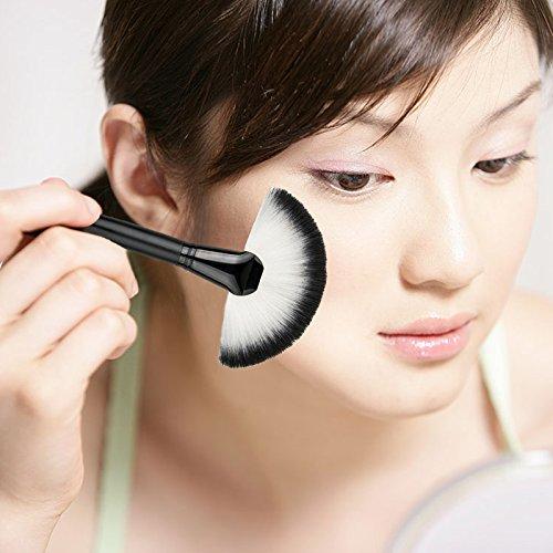 Tenflyer Professionnel Outils Make Up Base Pinceau - Brosse de Maquillage / Brush Cosm¨¦tique Beaut¨¦ & Make-up Manche en Bois Noir Ombell¨¦