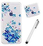iPhone6/6s case, Wyrhs iPhone6/6s Advanced trasparente morbido custodia in TPU cover] [bumper] [silicone–Pinguino + metallo penna di tocco