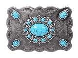 beltiscool - Fibbie per cinture - donna Antique Silver Taglia unica