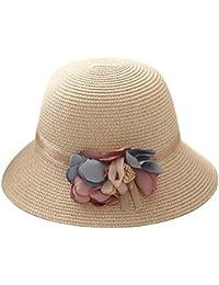Gorros Damas Mujer Sombrero De Verano Sombrero De Pesca Plegable Fácil De Igualar  Sombrero De Playa 7962c4aee326