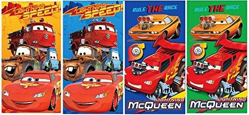 Disney Cars Set di 4asciugamano 35x 65cm (U02)