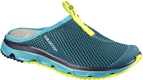 Salomon RX Slide 3.0, Zuecos para Mujer, Azul (Deep Lagoon/Bluebird/Safety Yellow), 37 1/3 EU
