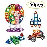 Uping Magnetbausteine magnetische Bauklötze 60 stücke Inspirierender Standard Bausätze für Kinder ab 3 Jahre als Lernspielzeug