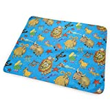Zodiac Astrological Sun Signs Astrology, Scale, Blue Rainbow Colorful Washable Incontinence Pad Baby Changing Pad Pet Mat Large Size 25.5 x 31.5 inch (65x80 cm)