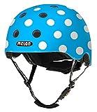 Melon Urban Active - Helm Dotty Blue (M-L) - Passend für BMX, E-Bike, Kinder-Rad, Laufrad, Longboard, Vista Visor, Mountainbike, Rennrad, Scoopjet, Skateboard, Tourenrad, Trekking-Rad