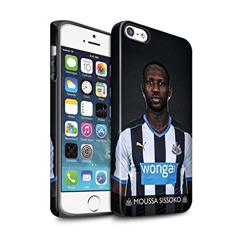 Officiel Newcastle United FC Coque / Matte Robuste Antichoc Etui pour Apple iPhone SE / Pack 25pcs Design / NUFC Joueur Football 15/16 Collection Sissoko