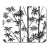 HOTNING Gaming Mauspad Bamboo Seamless Pattern on White Background Tropical Wallpaper Nature Textile 11.8x 9.8 Decor Off
