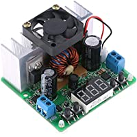 KKmoon Digital DC-DC step-down regolabile modulo di alimentazione a tensione costante Corrente di ingresso 6-40V uscita 0-38V (Con Fan) - Modulo Di Ingresso Di Alimentazione