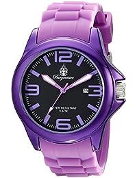 Burgmeister Armbanduhr für Damen mit Analog Anzeige, Quarz-Uhr und Silikonarmband - Wasserdichte Damenuhr mit zeitlosem, schickem Design - klassische, elegante Uhr für Frauen - BM166-090A Fun Time