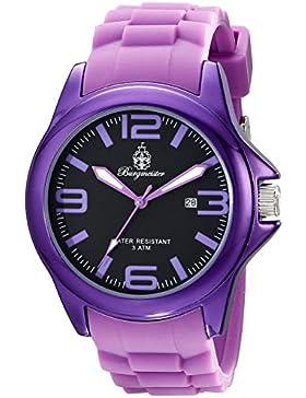 Burgmeister Armbanduhr für Damen mit Analog Anzeige, Quarz-Uhr und Silikonarmband - Wasserdichte Damenuhr mit...