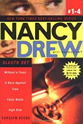 Nancy Drew Girl Detective Sleuth Set: Without a Trace/A Race Against Time/False Notes/High Risk (Nancy Drew (All New), Girl Detective)