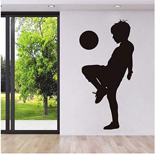 (Newberli Spielen Fußball Wandaufkleber Kleine Kinder Spieler Wandaufkleber Wandtattoo Für Kindergarten Spielzimmer Wohnkultur Wohnzimmer 43 * 87 Cm)