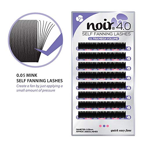 66612cfec04 Self Fanning™ Russian Lashes | Noir Volume Lashes® 0.05 C D Curl Ultra Mega  Faux