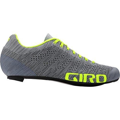 Giro Empire E70 Knit Road, Zapatos de Ciclismo de Carretera para Hombre, (Grey Heather/Highlight 000), 43.5 EU