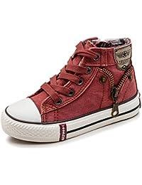 Chaussures De Sport Estamico Toile Enfants Haut-dessus, Eur34 Orange