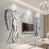 Benutzerdefinierte 3D Fototapete Europäischen Engel Kunst Wandmalerei Wandverkleidung Moderne Wohnzimmer Schlafzimmer Tv Hintergrund Wandbild Dekor