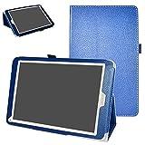 Archos 97C Platinum Coque,Mama Mouth Slim Folio PU Cuir debout Fonction Housse Coque Étui Couverture pour 9.7' Archos 97C Platinum Android 6.0 Tablet PC,Bleu foncé