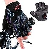 boildeg Cycling Gloves Bike Gloves Mountain Road Bike Gloves Gradient Anti-slip Shock-absorbing Pad Breathable Half Finger Bi