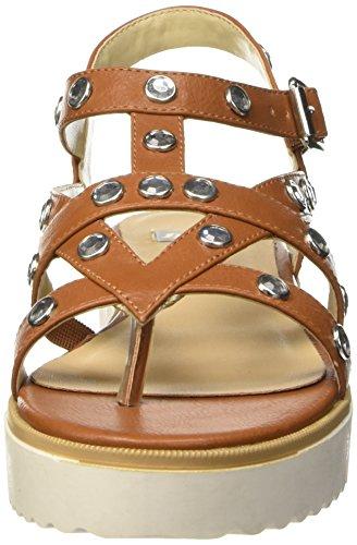 Bata 5613225, Scarpe Col Tacco con Cinturino a T Donna Marrone