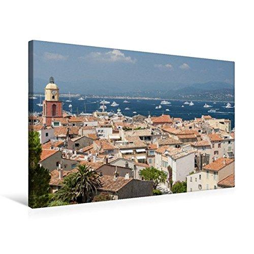 Preisvergleich Produktbild Premium Textil-Leinwand 75 cm x 50 cm quer, Saint-Tropez – Traumstadt an der Côte d'Azur | Wandbild, Bild auf Keilrahmen, Fertigbild auf echter Künstler und der High Society (CALVENDO Orte)