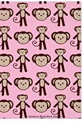 Monkeys Blank Book Journal: 100 pages, 6 x 9