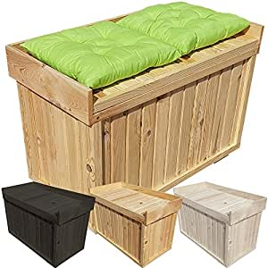 proheim auflagen box mit sitz aus 100 fsc holz stabile universal box kissen box sitzbank farbe. Black Bedroom Furniture Sets. Home Design Ideas