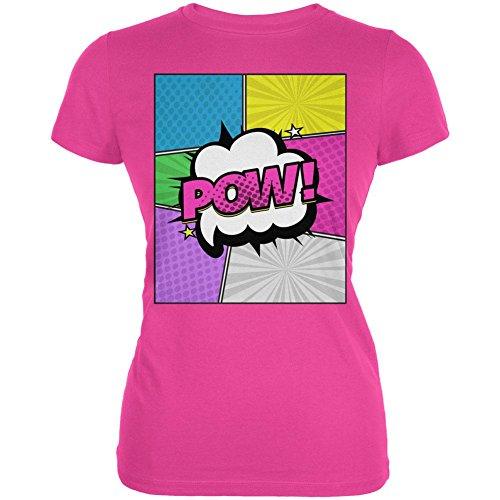 stüm Junioren Weiches T-Shirt Hot Pink 2XL (Pop-art-halloween-kostüm Für Frauen)
