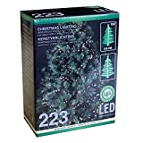 Multistore 2002 223er LED Lichterkette warmweiß Christbaumlichterkette für Weihnachtsbäume bis 210cm Indoor & Outdoor Lichterdeko Dekoration