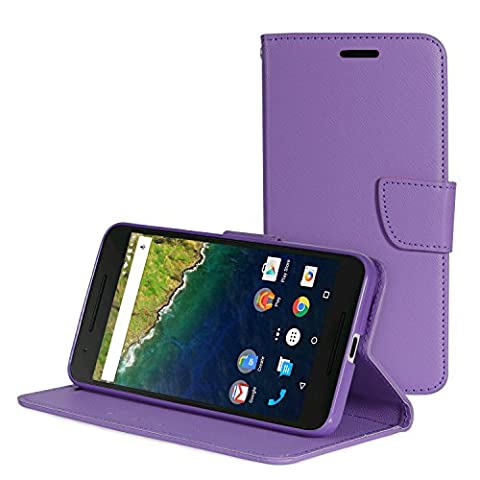 Nexus 6P Case - [Kickstand Feature] MoKo Full Body Scratch-resistant Phone Cover with 3 Card-slot & Wrist Strap for Google Nexus 6P by Huawei 5.7 Inch Smartphone 2015 Release,