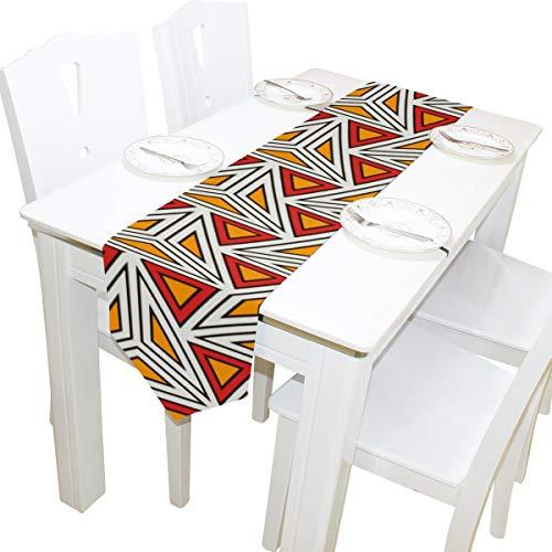 Yushg Abstrakte Moderne Dreieck Kunst Kommode Schal Tuch Abdeckung Tischläufer Tischdecke Tischset Küche Esszimmer Wohnzimmer Hause Hochzeitsbankett Decor Indoor 13x90 Zoll