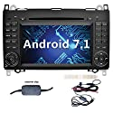 YINUO 7 Zoll 2 Din Android 7.1.1 Nougat 2GB RAM Quad Core Autoradio Moniceiver DVD GPS Navigation 1080P OEM Stecker Canbus Orange Tastenbeleuchtung für Mercedes-Benz A-class W169 (2004-2012)/ Mercedes-Benz B-class W245 (2004-2012) / Mercedes-Benz Viano/Vi
