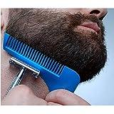 Vello facial Herramienta de moldeador multifunción barba Shaping Tool plantilla de estilo peine recortador de vello facial para hombres