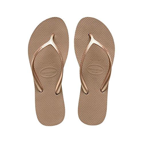 HAVAIANAS - brasilianischen Flip-Flops aus hochwertigem natürlichem Leder, Mädchen-37 (35 BR)