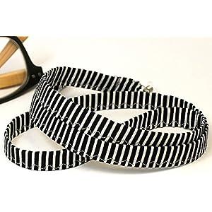 Brillenkette Brillenband schwarz weiß gestreift