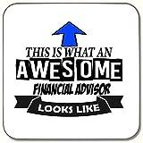 Dies ist, was ein Awesome Finanzberater Looks Like Getränke Untersetzer ideale Geschenk