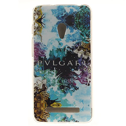 Ukayfe Per Zenfone 5 Custodia fit ultra sottile Silicone Morbido Flessibile TPU Custodia Case Cover Protettivo Skin Caso Con Stilo Penna - Almond Tree Abstract blue