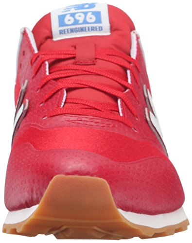 New Balance Womens 696 Hybrid Pack Lifestyle Sneaker, Rouge / Gris, 10 B Us Rouge / Gris