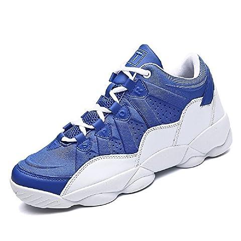 Rioneo Homme Femme Basket Chaussures de Sports Sneakers Fitness Couple Noir Bleu Rouge 36-44 Bleu 39