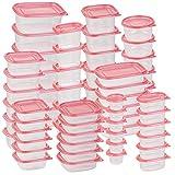 Rosenstein & Söhne Vorratsdosen: 120-teiliges XXL-Frischhaltedosen-Set BASIC, BPA-frei (60 Dosen) (Frischhaltedosen aus Kunststoff)