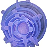 lid-bowl Topf lid-silicon Stretch Deckel Schutzhülle aus Silikon Pfanne Küche Vakuum Deckel Maschinen Universal Silikon Saran (Speisen Wrap Einheitsgröße Zufällig