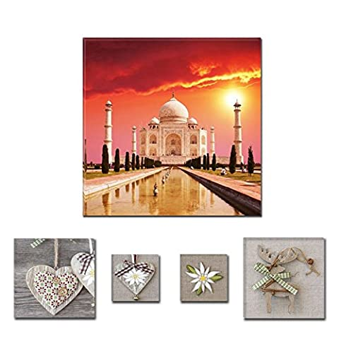 Lumière Eco Bundle Pittoresque sur toile Taj Mahal 80x 80cm