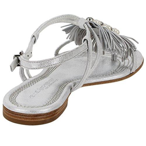 Kennel und Schmenger Sandale Elle in silber-weiß ks-51-95100-237 Silber-Weiß