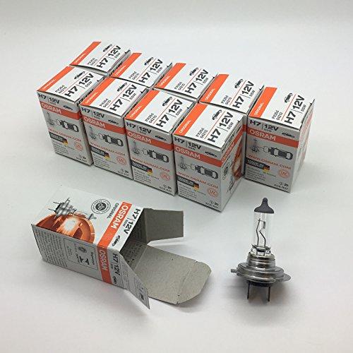 Preisvergleich Produktbild 10x OSRAM Lampe Halogenlampe Glühlampe H7 ORIGINAL LINE 12V 55W PX26d 64210